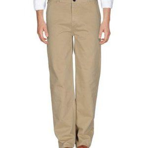 WHISTLES Men's Tan Chino Casual Pants Regular Fit Straight Leg Size 32-Pre-Owned